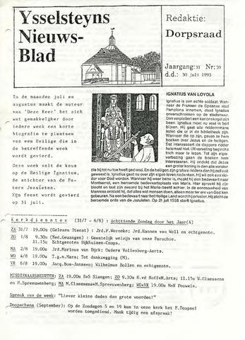 Ysselsteyns Nieuwsblad 1993-07-30