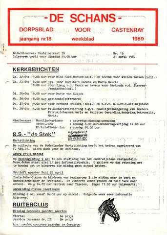 Castenrays dorpsblad De Schans 1989-04-21
