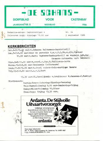 Castenrays dorpsblad De Schans 1986-09-05