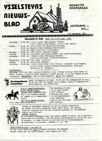 Ysselsteyns Nieuwsblad 1985-09-20