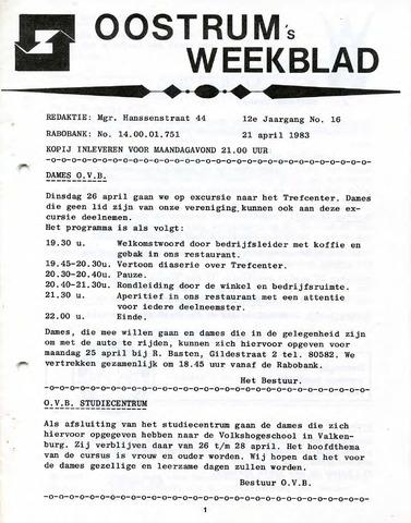 Oostrum's Weekblad 1983-04-21
