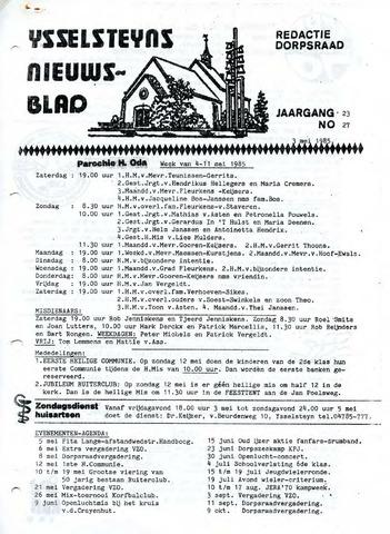 Ysselsteyns Nieuwsblad 1985-05-03