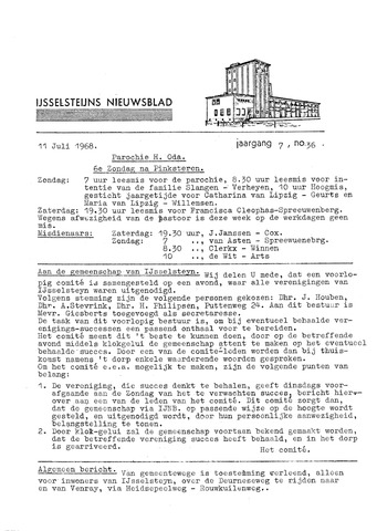 Ysselsteyns Nieuwsblad 1968-07-11