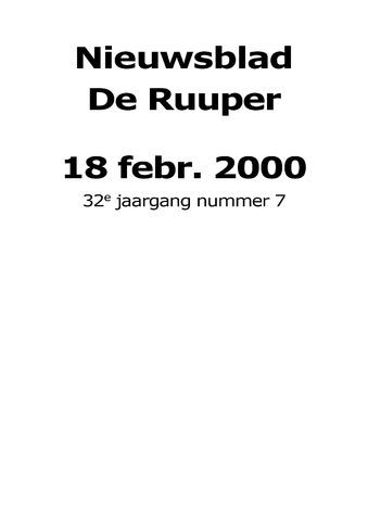 Dorpsblad Leunen-Veulen-Heide 2000-02-18