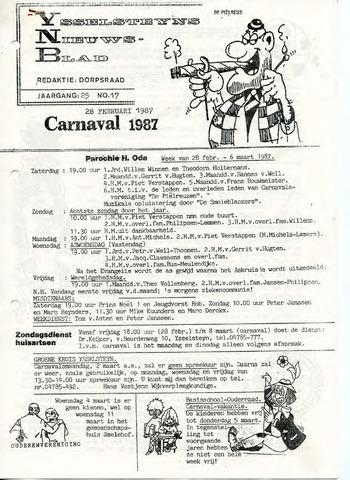 Ysselsteyns Nieuwsblad 1987-02-28