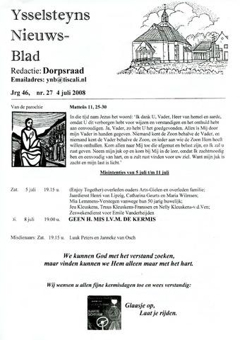 Ysselsteyns Nieuwsblad 2008-07-04