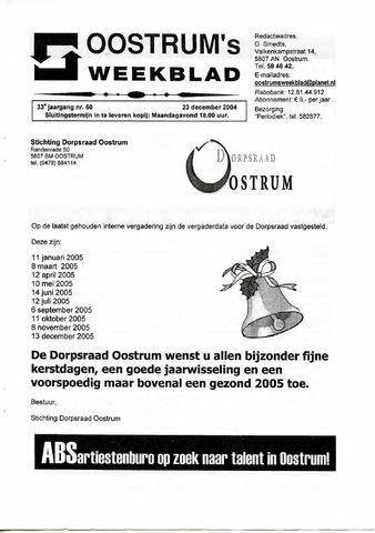 Oostrum's Weekblad 2004-12-23