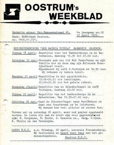 Oostrum's Weekblad 1975-04-17