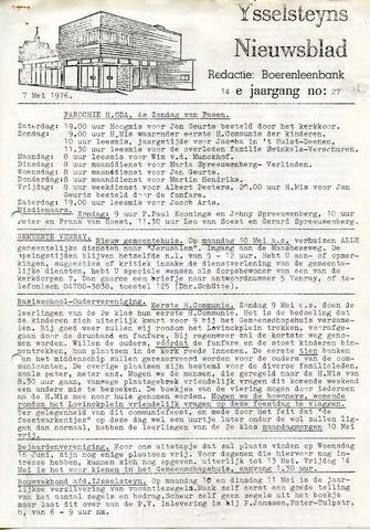 Ysselsteyns Nieuwsblad 1976-05-07