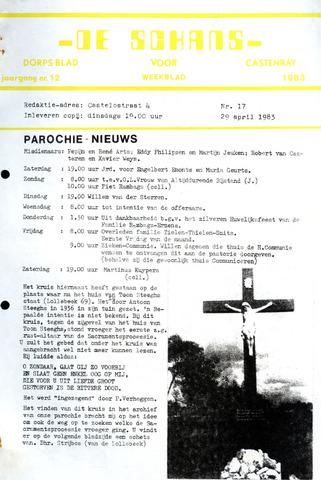 Castenrays dorpsblad De Schans 1983-04-29