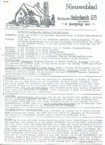 Ysselsteyns Nieuwsblad 1977-09-23
