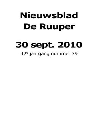 Dorpsblad Leunen-Veulen-Heide 2010-09-30