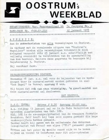 Oostrum's Weekblad 1978-01-12