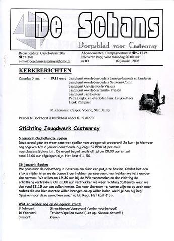 Castenrays dorpsblad De Schans 2008