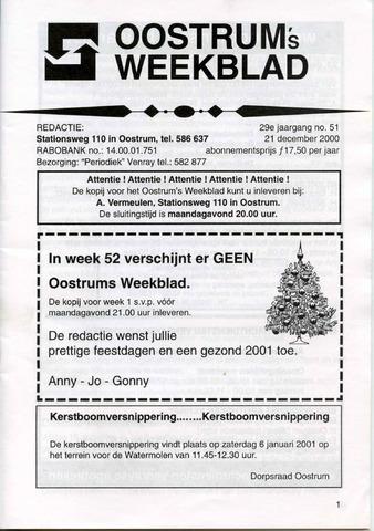 Oostrum's Weekblad 2000-12-21