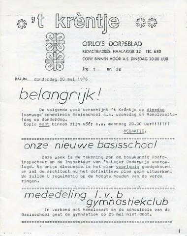Oirlo's dorpsblad 't Krèntje 1976-05-20