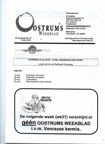 Oostrum's Weekblad 2010-07-29