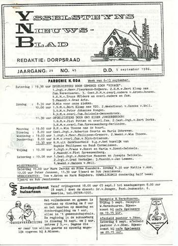 Ysselsteyns Nieuwsblad 1986-09-05
