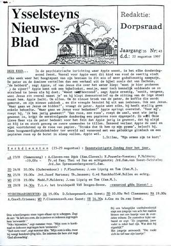 Ysselsteyns Nieuwsblad 1997-08-22