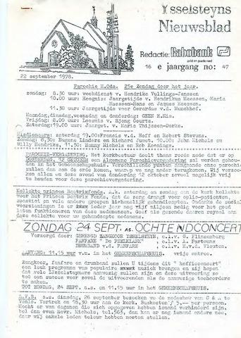 Ysselsteyns Nieuwsblad 1978-09-22