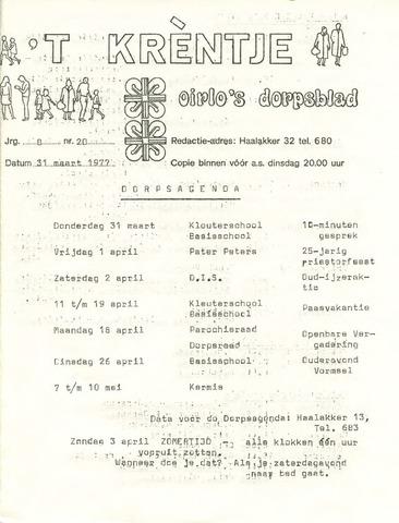 Oirlo's dorpsblad 't Krèntje 1977-03-31