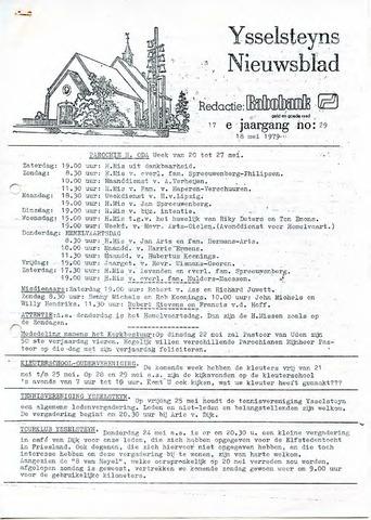 Ysselsteyns Nieuwsblad 1979-05-18