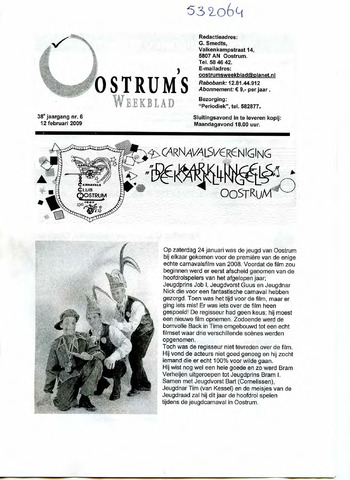 Oostrum's Weekblad 2009-02-12
