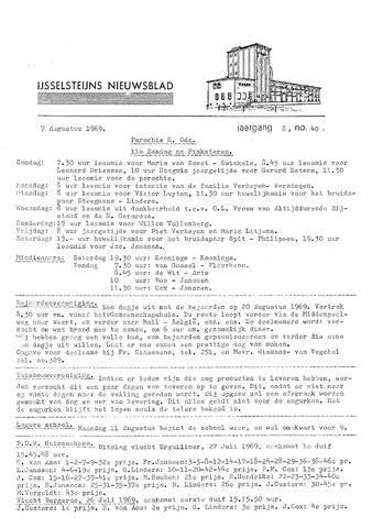 Ysselsteyns Nieuwsblad 1969-08-07