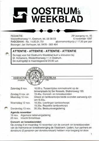 Oostrum's Weekblad 1997-11-06