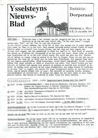 Ysselsteyns Nieuwsblad 1994-09-23