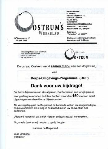 Oostrum's Weekblad 2005-04-28