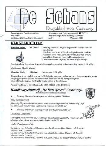 Castenrays dorpsblad De Schans 2010-01-27