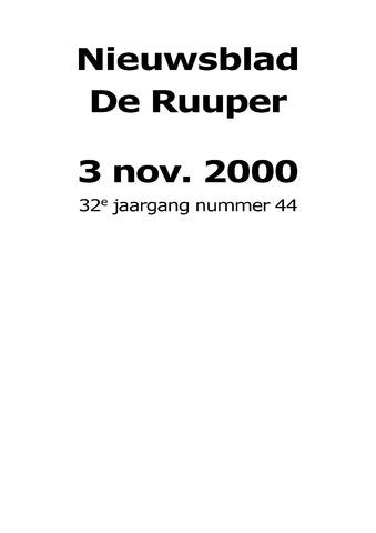 Dorpsblad Leunen-Veulen-Heide 2000-11-03