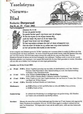 Ysselsteyns Nieuwsblad 2003-05-09