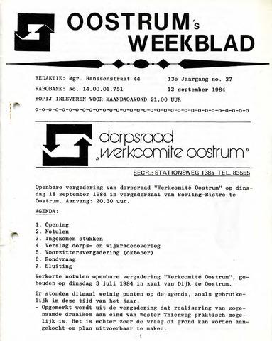 Oostrum's Weekblad 1984-09-13