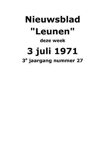 Dorpsblad Leunen-Veulen-Heide 1971-07-03