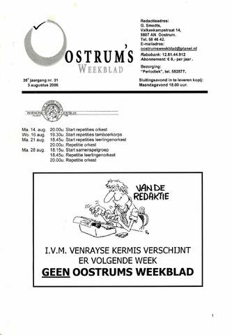 Oostrum's Weekblad 2006-08-03