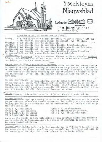Ysselsteyns Nieuwsblad 1977-12-09