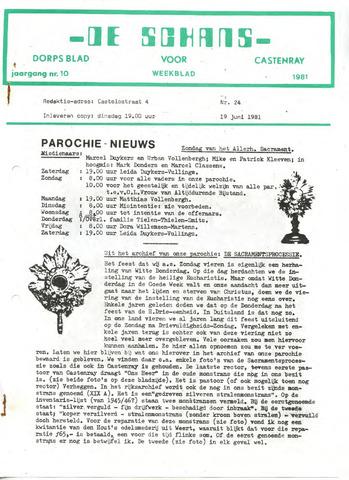 Castenrays dorpsblad De Schans 1981-06-19