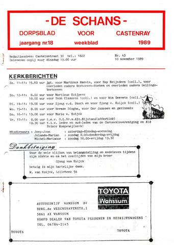 Castenrays dorpsblad De Schans 1989-11-10
