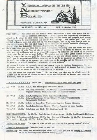 Ysselsteyns Nieuwsblad 1988-10-07