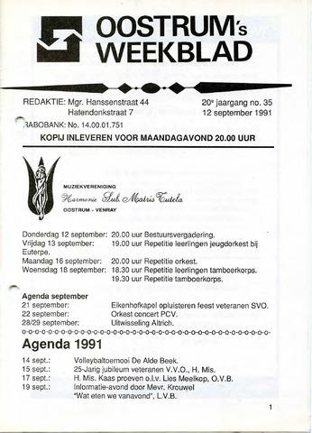 Oostrum's Weekblad 1991-09-12