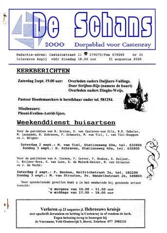 Castenrays dorpsblad De Schans 2000-08-31