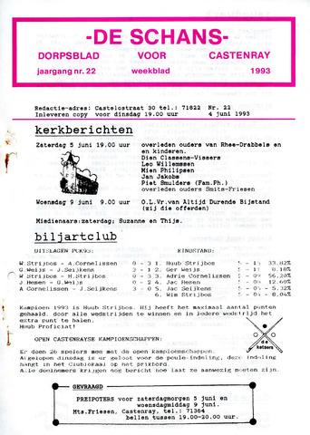 Castenrays dorpsblad De Schans 1993-06-04