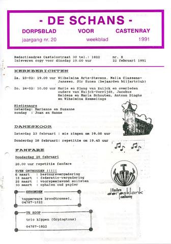 Castenrays dorpsblad De Schans 1991-02-22