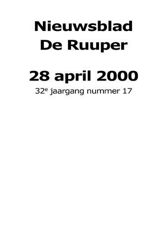 Dorpsblad Leunen-Veulen-Heide 2000-04-28