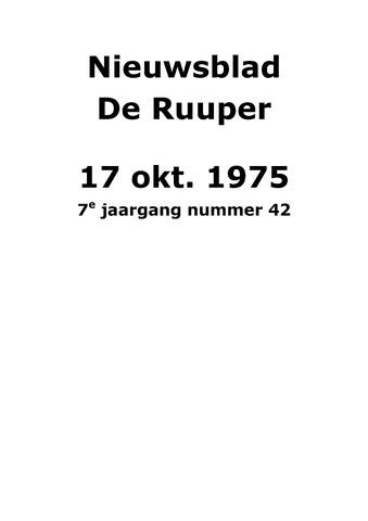 Dorpsblad Leunen-Veulen-Heide 1975-10-17