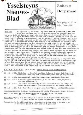 Ysselsteyns Nieuwsblad 1997-03-07
