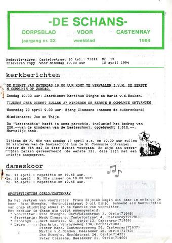 Castenrays dorpsblad De Schans 1994-04-15