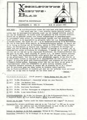 Ysselsteyns Nieuwsblad 1993-01-22